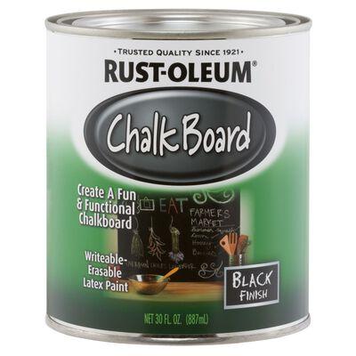 Rust-Oleum Interior Latex Chalkboard Paint Black Flat 1 qt.