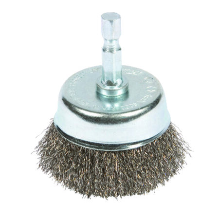 Forney 2 in. Dia. 0.25 Crimped Wire Cup Brush