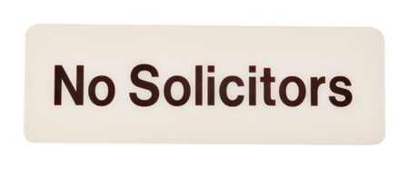 Hy-Ko English 3 in. H x 9 in. W Plastic Sign No Solicitors