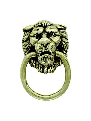 Amerock Allison Lion Head Ring Cabinet Pull 1-3/8 in. Diameter Antique Brass 1 pk