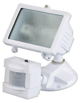 Heath Zenith Security Spotlight Glass White Motion-Sensing Halogen 150 watts