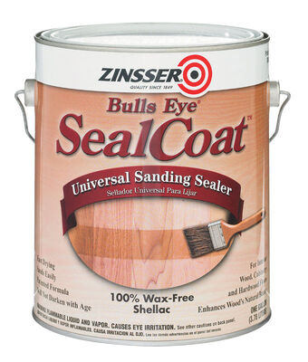 Zinsser Bulls Eye SealCoat Oil-Based Sanding Sealer Clear Matte 1 gal.