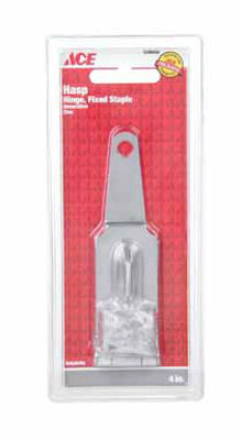 Ace Zinc Fixed Staple Hinge Hasp 4 in. L
