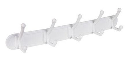 Homz Large 5-Hook Rack 18.38 in. L Plastic 1 pk
