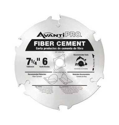 Freud Avanti Pro 7-1/4 in. Dia. 6 teeth Carbide Tip Fiber Cement Blades For Cement Board