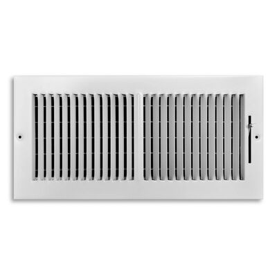 Tru Aire 6 in. H x 14 in. W White Steel 2-Way Supply Wall/Ceiling Register