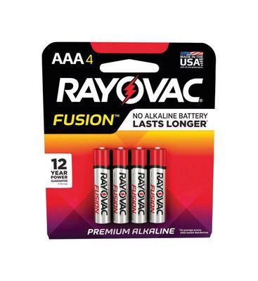 RAYOVAC FUSION AAA Alkaline Batteries 1.5 volts 4 pk
