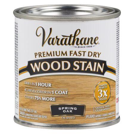 Varathane Premium Fast Dry Semi-Transparent Oil-Based Wood Stain Spring Oak .5 pt.