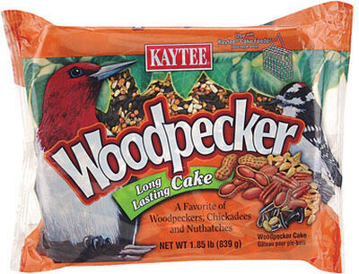 Kaytee Woodpecker Bird Food Block Sunflower Seeds and Peanuts 1.85 lb.