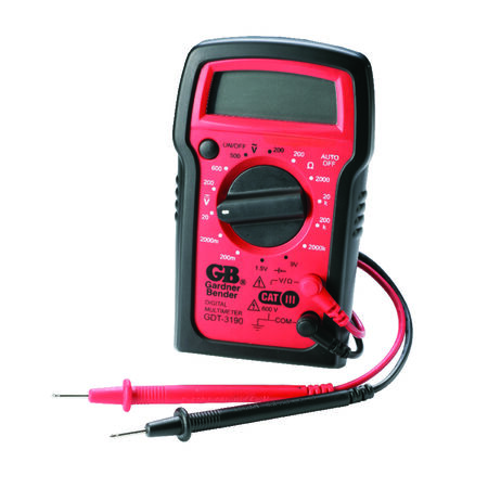 GB Digital Digital Multimeter 500 VAC 600 VDC 2 meg Ohm Red/Black