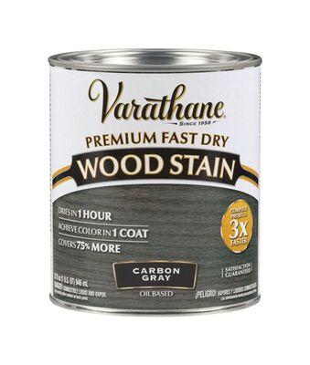 Varathane Premium Fast Dry Semi-Transparent Oil-Based Wood Stain Carbon Gray 1 qt.