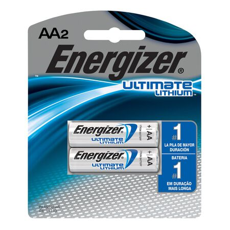 Energizer Ultimate Lithium AA Camera Battery L91BP-2