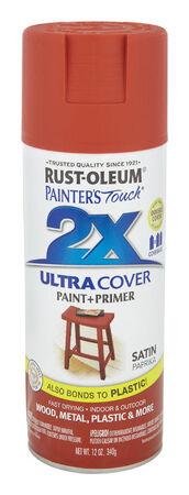 Rust-Oleum Painter's Touch Ultra Cover Paprika Satin 2x Paint+Primer Enamel Spray 12 oz.