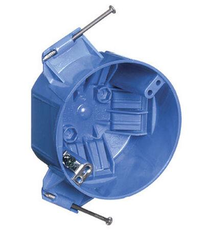 Carlon 2-5/16 in. H Round 1 Gang Junction Box Blue PVC