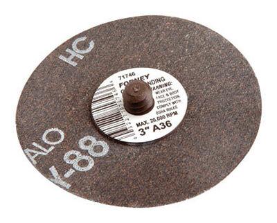 Forney Quick Change 3 in. Dia. Mini-Sanding Disc 36 Grit 1 pk
