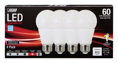 FEIT Electric LED Bulb 9.5 watts 800 lumens 3000 K A-Line A19 60 watts equivalency Medium Base (