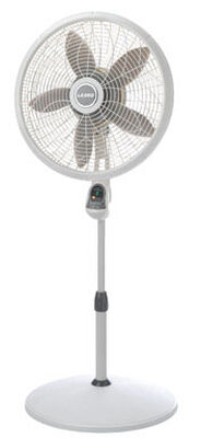 Lasko Pedestal Fan 53-1/2 in. H x 20-1/2 in. L x 20-1/2 in. W 3 speed Oscillating AC 5 blade Whit