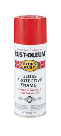 Rust-Oleum Stops Rust Sunrise Red Gloss Protective Enamel Spray 12 oz.