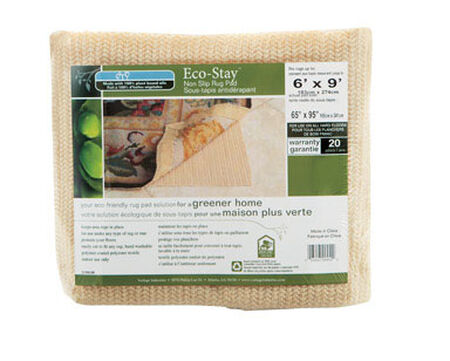 Eco Stay 6 ft. L x 9 ft. W Polyester Indoor Rug Pad