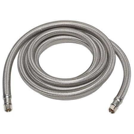 Ace 1/4 in. Compression x 1/4 in. Dia. Compression Stainless Steel 10 ft. Supply Line
