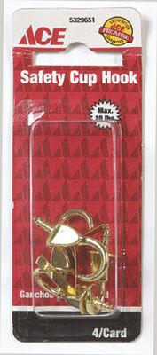 Ace 5/32 1.375 in. L Brass Brass Cup Hook 1 pk
