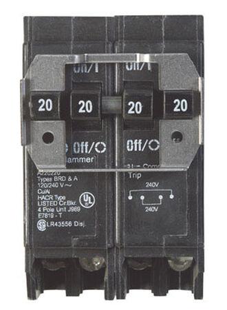 Eaton HomeLine Plug In 20/20 amps Circuit Breaker