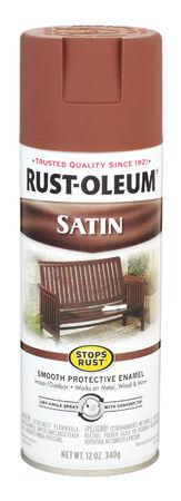 Rust-Oleum Stops Rust Chestnut Brown Satin Enamel Spray 12 oz.