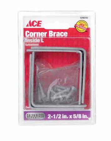 Ace Inside L Corner Brace 2-1/2 in. x 5/8 in. Zinc