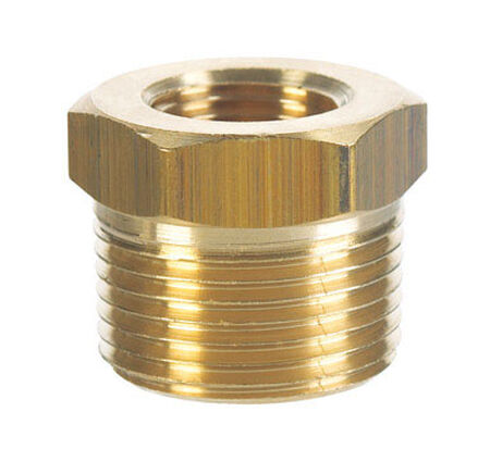 Ace 1/4 in. Dia. x 1/8 in. Dia. MPT To FPT Yellow Brass Hex Bushing