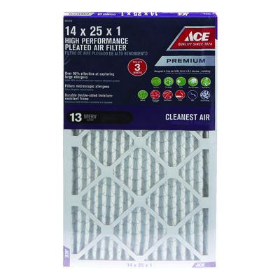 Ace 25 in. L x 14 in. W x 1 in. D Pleated Air Filter 13 MERV