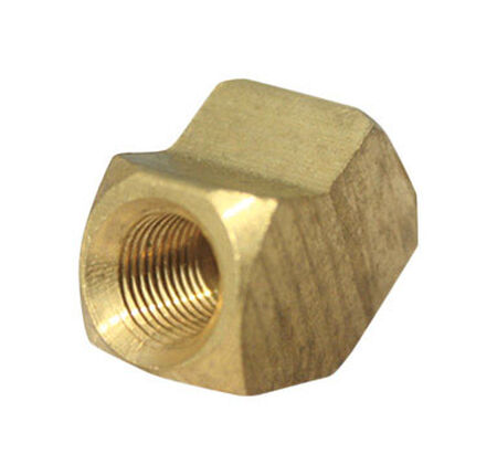 Ace 3/8 in. Dia. x 3/8 in. Dia. FPT To Compression To Compression 45 deg. Yellow Brass Elbow