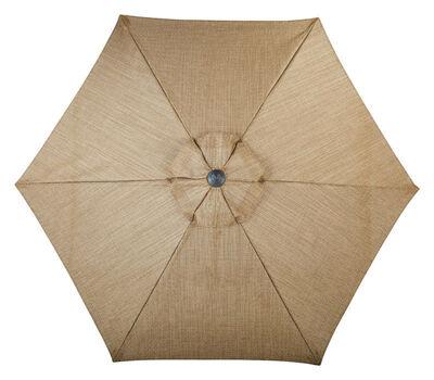 Living Accents Palermo 9 ft. Dia. Tiltable Patio Umbrella Brown