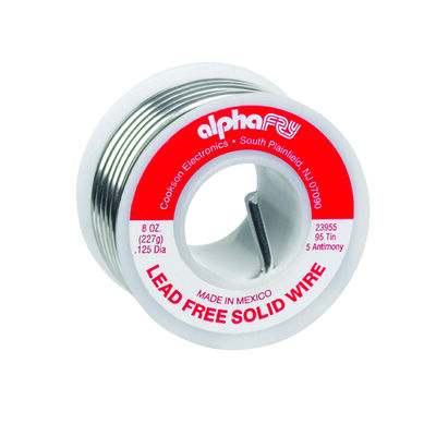 Alpha Fry 8 oz. For Plumbing Solid Wire Solder 95% Tin 5% Antimony Tin / Antimony Lead Free
