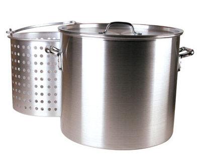 FDL Aluminum Boiling Pot 60 qt. Silver