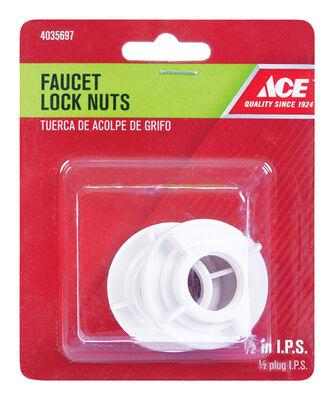 Ace No. 8634C Plastic 2 pk Faucet Lock Nut