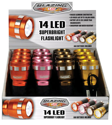 Blazing LEDz 14 LED Flashlight LED AAA Brown/Gold/Pink and Rust
