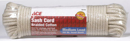 Ace 1/4 in. Dia. x 100 ft. L Solid Braided Cotton Cord White