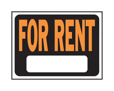 Hy-Ko English 9 in. H x 12 in. W Plastic Sign For Rent