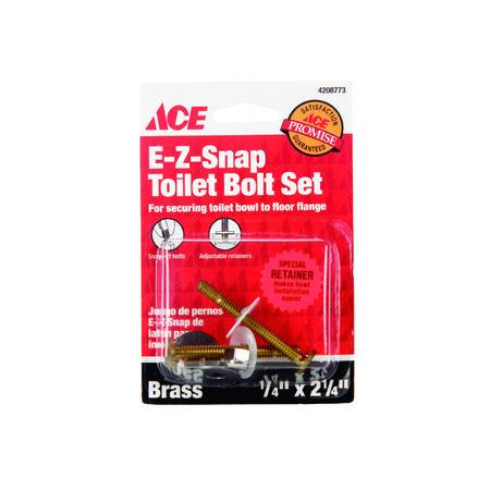 Ace Toilet Bolt Set Brass