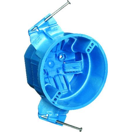 Carlon 3 in. H Round 1 Gang Electrical Box Blue PVC