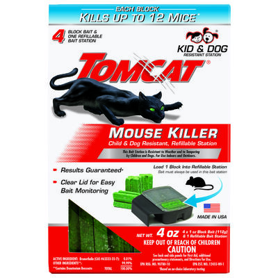 Tomcat Refillable Bait Station For Mice