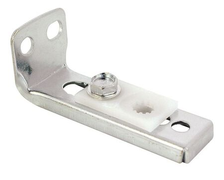 Prime-Line Zinc-Plated Silver Bi-Fold Door Bottom Pivot Bracket 1 pc. 1-3/16 in. H