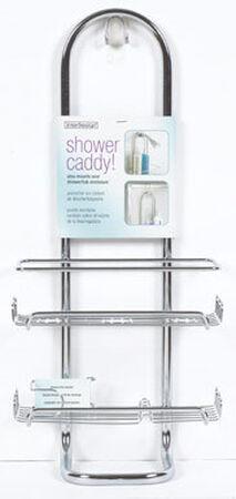InterDesign Shower Caddy 21 in. H x 12 in. L x 4.5 in. W Silver Silver Steel