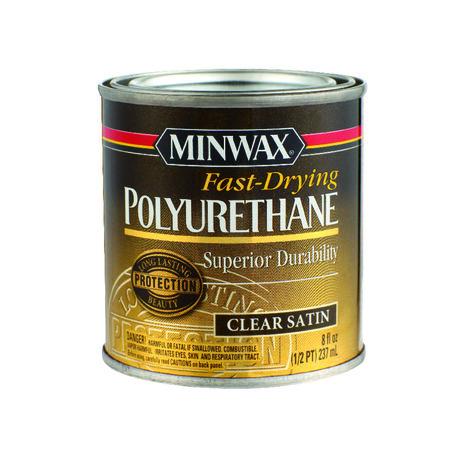 Minwax Indoor Clear Satin Polyurethane 1/2 pt.