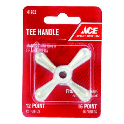 Ace 1/2 in. Dia. x 1/2 in. Dia. Aluminum Tee Faucet Handle
