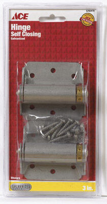 Ace 3 in. H x 3 in. L Spring Return Galvanized 2 Adjustable Screen Storm Self Closing Hinge 3 in