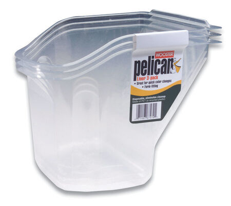 Wooster Pelican Plastic 7 in. W Paint Pail Liner