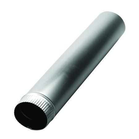 Deflect-O Jordan 3 in. Dia. x 2 ft. L Aluminum Vent Pipe