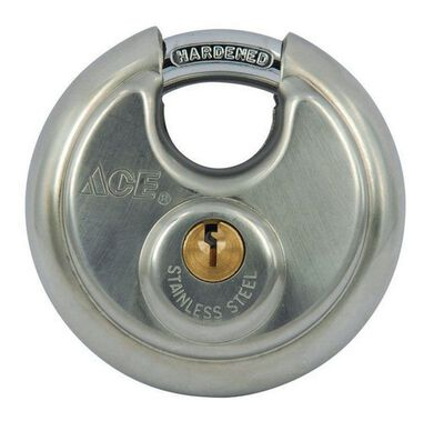 Ace 2-3/4 in. 4-Pin Cylinder Stainless Steel Shrouded Shackle Padlock