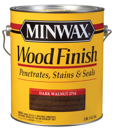 Minwax Wood Finish Transparent Oil-Based Wood Stain Dark Walnut 1 gal.